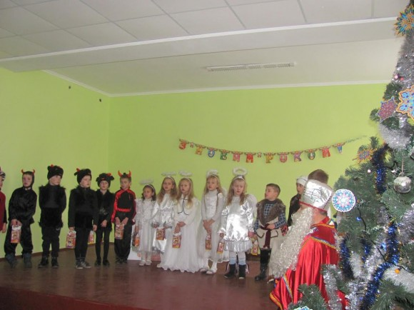 Charity presents for children in Rava-Ruska's boarding school